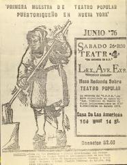 Primera Muestra de Teatro Popular Puertoriqueño en Nueva York / First Sample of Puerto Rican Popular Theater in New York