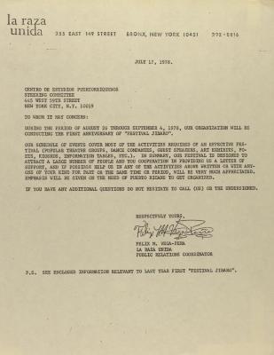 Correspondence from La Raza Unida
