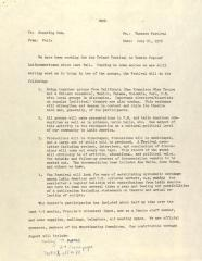 Memorandum from Felix Cortes of the Center for Puerto Rican Studies