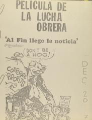 Pelicula de la Lucha Obrera / Workers' Struggle Film