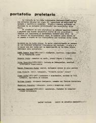 Portafolio Proletario / Proletarian Portfolio