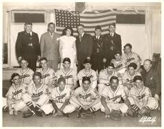 Fragoza and other American Legion members with the Borinquen baseball team