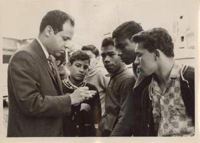 Frank Torres and young boys