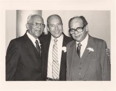 Judge Frank Torres, labor leader Eddy Gonzalez, and Judge Felipe Neri Torres