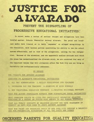 Justice for Alvarado - Preventing the Dismantling of Progressive Educational Initiatives