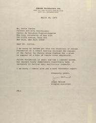 Correspondence from the Jerome Foundation