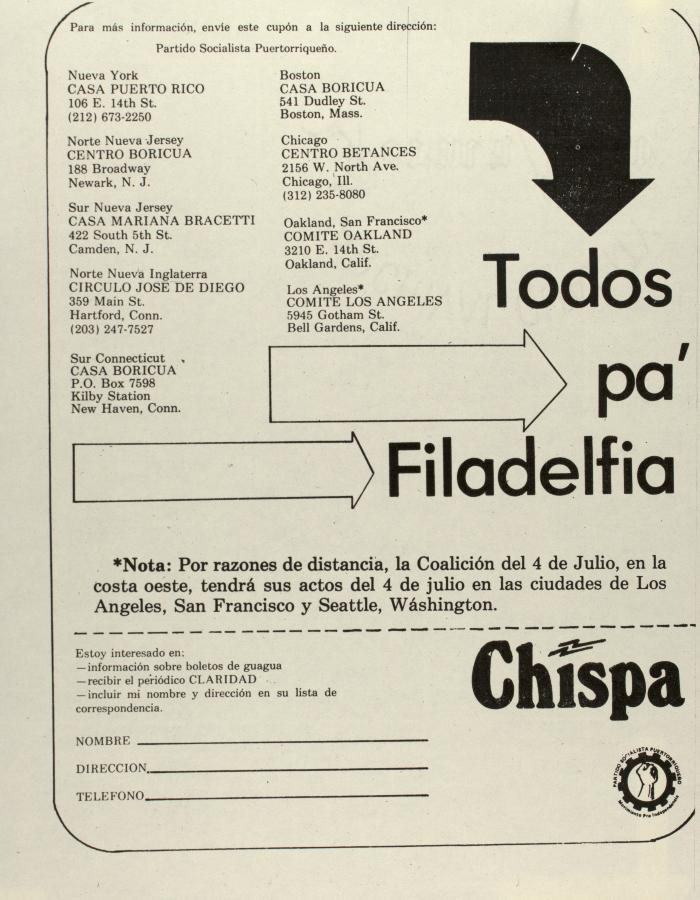 Todos pa' Filadelfia / All for Philadelphia