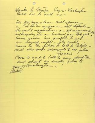 Manuscript Notes of the Lexington Avenue Music Workshop