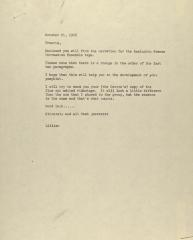 """Correspondence from """"Lillian"""""""
