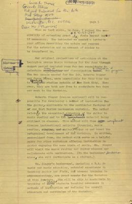 Draft of Correspondence from the Center for Puerto Rican Studies