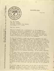 Correspondence from Committee for a Comprehensive Education Center