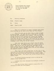 Memorandum from Francia Luban of the Center for Puerto Rican Studies