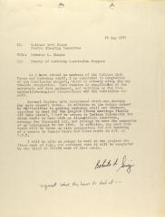 Memorandum from Roberta L. Singer of the Center for Puerto Rican Studies