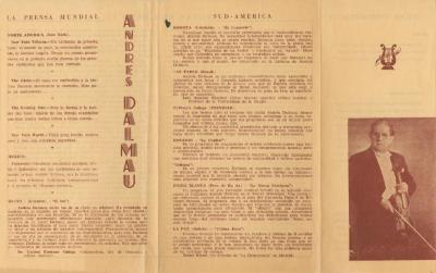 Biographical notes on Argentine violinist Andrés S. Dalmau