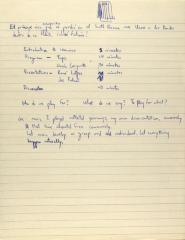 Manuscript Notes on Seminar on Puerto Rican Culture and Arts in the U.S
