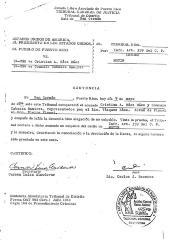 U.S. Court document of the denouncing of Gonzalo Cabassa Ramírez's U.S. Citizenship