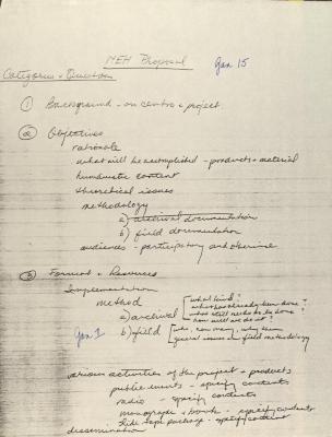 Manuscript Draft for NEH Proposal