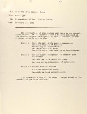 Memorandum from the Center for Puerto Rican Studies