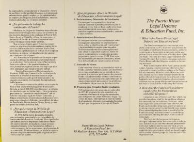 Puerto Rican Legal Defense & Education Fund, Inc.