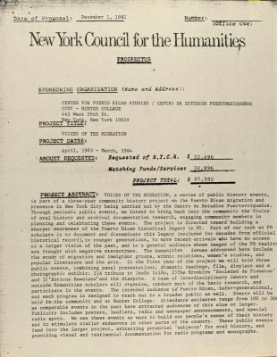 New York Council for the Humanities - Prospectus