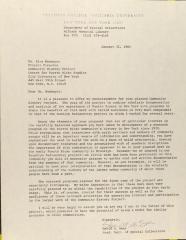 Correspondence from Teachers College, Columbia University