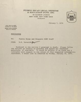 Memorandum from the Puerto Rican Legal Defense & Education Fund, Inc