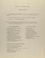 Puerto Rican Interagency Council - Minutes of Meeting of January 12, 1974