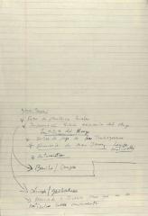 Manuscript Notes on Comité de Apoyo a los Trabajadores Agrícolas (CATA)/ Comité Organizador de Trabajadores Agrícolas (COTA)