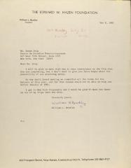 Correspondence from the Edward W. Hazen Foundation
