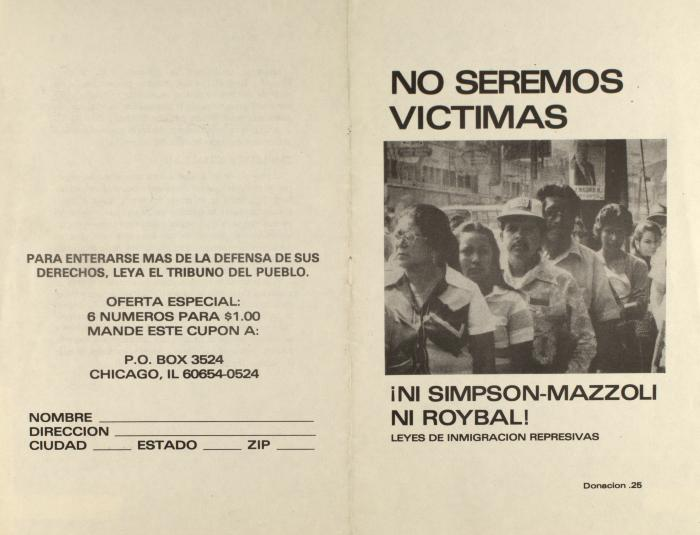 No Seremos Víctimas / We Will Not Be Victims