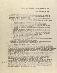 Informe Del Presidente (Septima Asamblea de CATA) / President's Report (Seventh CATA Assembly)