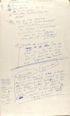 Manuscript Notes of Comité de Apoyo a los Trabajadores Agrícolas (CATA)/ Comité Organizador de Trabajadores Agrícolas (COTA)