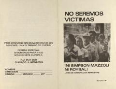 No Seremos Víctimas / We Will Not Be Victims