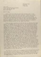 Correspondence from Sidney W. Mintz