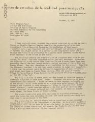 Correspondence from the Centro de Estudios de la Realidad Puertorriqueña