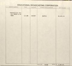 Invoice from Educational Broadcasting Corporation