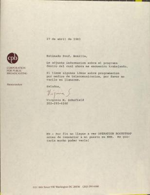 Correspondence from the Corporation for Public Broadcasting