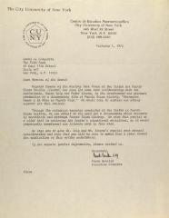 Correspondence from Centro Director Frank Bonilla