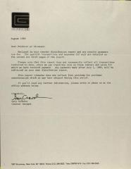 Correspondence from The Cinema Guild