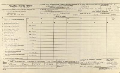 Financial Status Report of the Research Foundation of CUNY