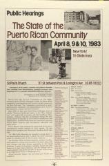 The State of the Puerto Rican Community / La Situación de la Comunidad Puertorriqueña