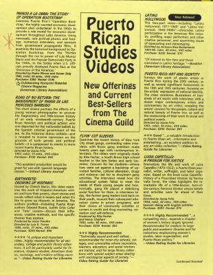 Puerto Rican Studies Videos