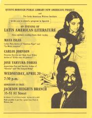 Queens Borough Public Library New Americans Project and Latin American Writers' Institute