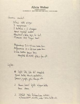 Manuscript Notes of Alicia Weber