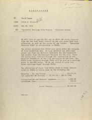 Memorandum from Pedro Rivera