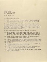 Correspondence from José Garcia Torres