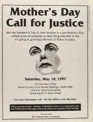 Mother's Day - Call for Justice