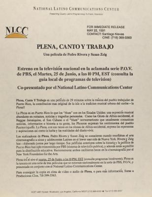 Plena, Canto Y Trabajo / Plena is Work, Plena is Song