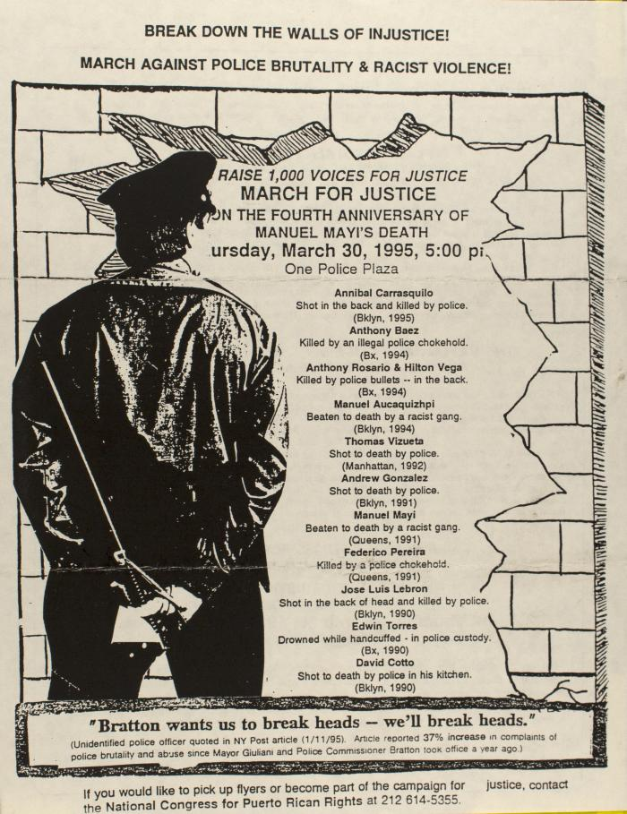 Break Down the Walls of Injustice! - March Against Police Brutality and Racist Violence