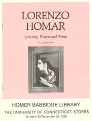 Program for Lorenzo Homar exhibit at University of Connecticut, Storrs